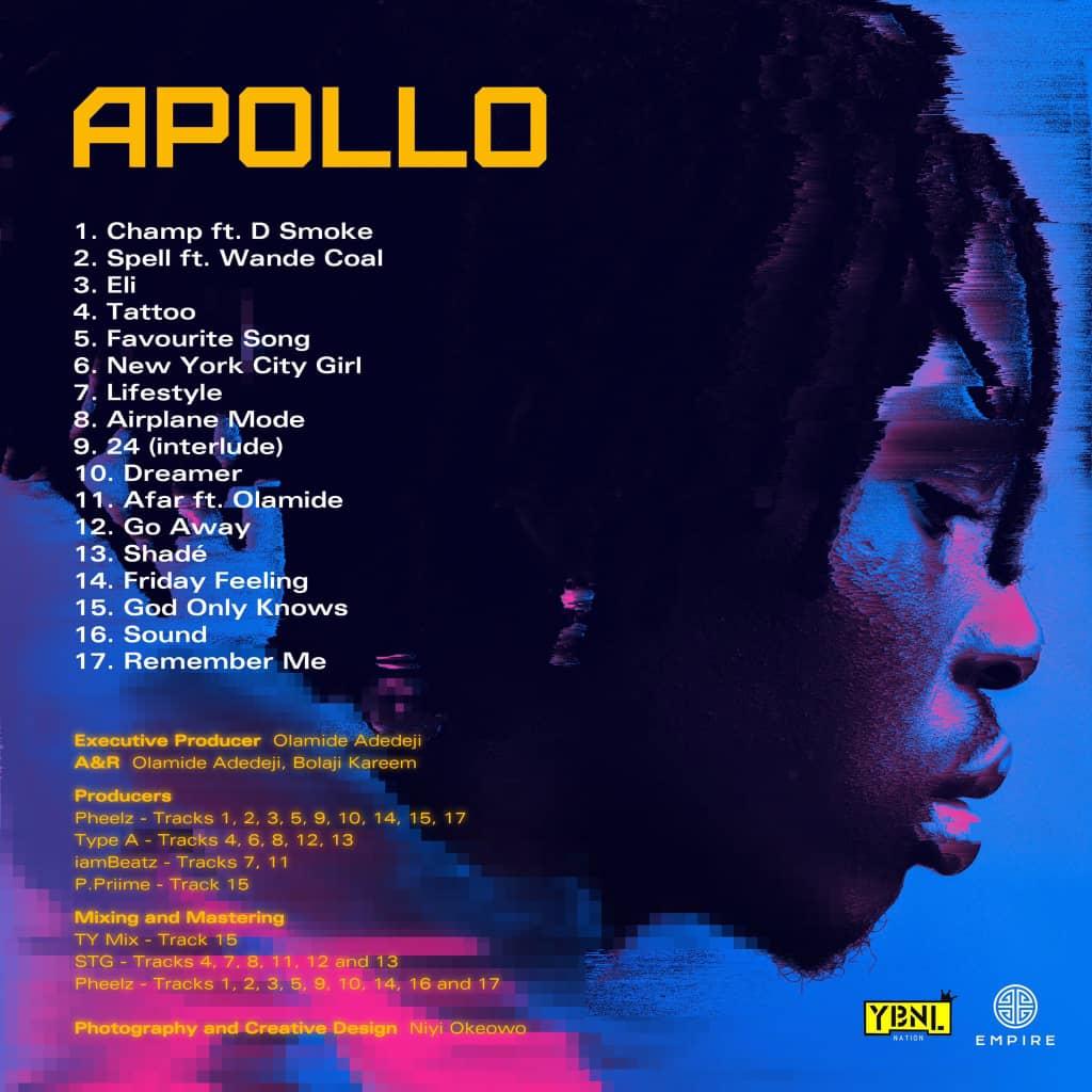Fireboy Releases 2nd Studio Album, 'Apollo'
