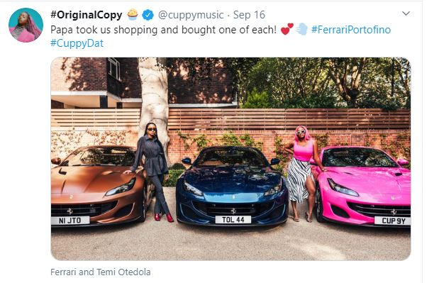 Otedola Buys His Daughters Ferraris, Nigerians React