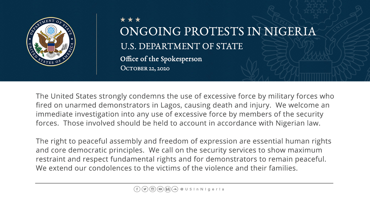 #LekkiMassacre: US Department Of State Weighs In