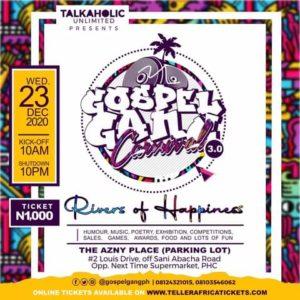 "Nigeria's Biggest Outdoor Event, ""Gospel Gang"" to hold 23 December"