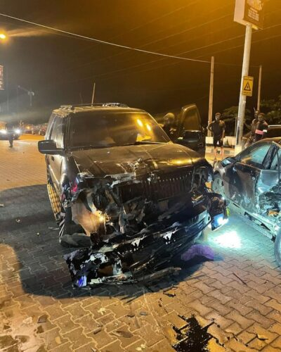 Yomi Casual Involved in car crash